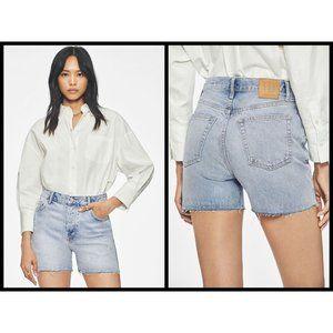 💕ANINE BING💕 Bonnie Cut Off High Waisted Shorts